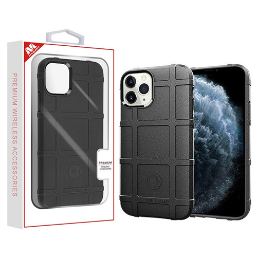 MyBat Rugged Bumper Shield Candy Skin Cover for Apple iPhone 11 Pro - Black