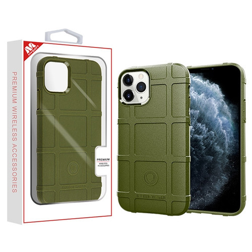 MyBat Rugged Bumper Shield Candy Skin Cover for Apple iPhone 11 Pro - Green