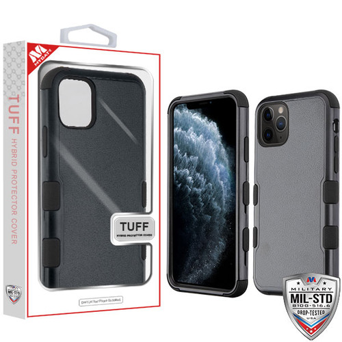MyBat TUFF Hybrid Protector Cover [Military-Grade Certified] for Apple iPhone 11 Pro - Natural Black / Black