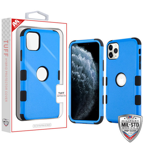 MyBat TUFF Hybrid Protector Cover [Military-Grade Certified] for Apple iPhone 11 Pro - Natural Dark Blue / Black