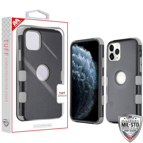 MyBat TUFF Hybrid Protector Cover [Military-Grade Certified] for Apple iPhone 11 Pro - Natural Black / Iron Gray
