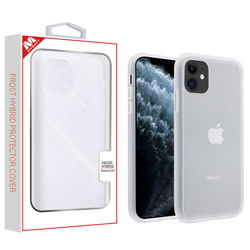 MyBat Frost Hybrid Protector Cover for Apple iPhone 11 Pro - Semi Transparent White Frosted / Rubberized Semi Transparent White