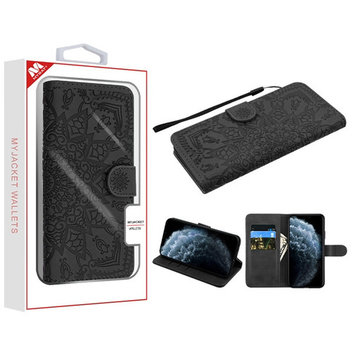 MyBat 3D Mandala MyJacket Wallet for Apple iPhone 11 Pro - Black
