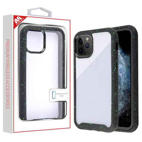 MyBat Splash Hybrid Case for Apple iPhone 11 Pro - Highly Transparent Clear / Black