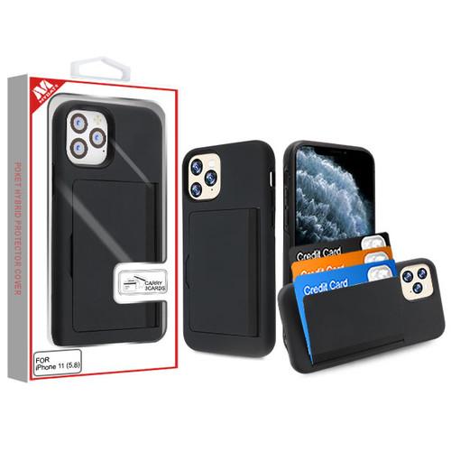 MyBat Poket Hybrid Protector Cover (with Back Film) for Apple iPhone 11 Pro - Black / Black