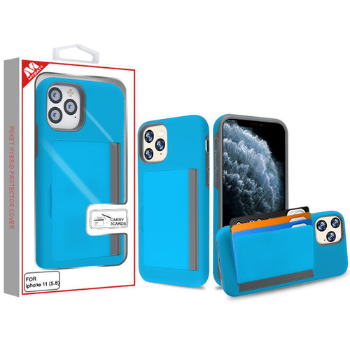 MyBat Poket Hybrid Protector Cover (with Back Film) for Apple iPhone 11 Pro - Blue / Gray