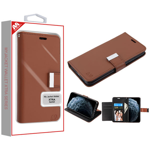 MyBat MyJacket Wallet Xtra Series for Apple iPhone 11 Pro - Brown / Black