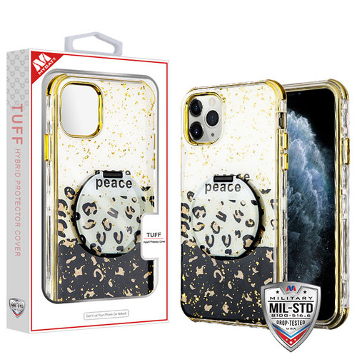 MyBat TUFF Kleer Hybrid Case (with Mirror) for Apple iPhone 11 Pro - Peace Out / Electroplating Gold
