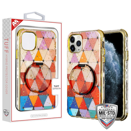 MyBat TUFF Kleer Hybrid Case (with Mirror) for Apple iPhone 11 Pro - Triangle Squad / Electroplating Gold