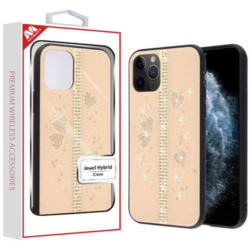 MyBat Jewel Hybrid Case (with Diamonds) for Apple iPhone 11 Pro - Spread Love