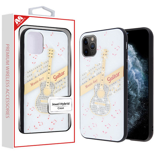 MyBat Jewel Hybrid Case (with Diamonds) for Apple iPhone 11 Pro - Guitar