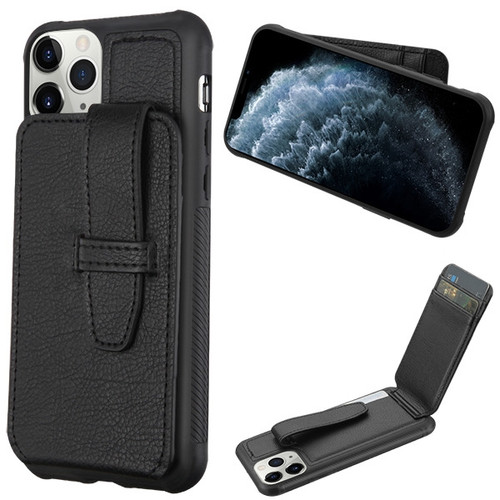 MyBat Cartera Wallet Cover (with buckles) for Apple iPhone 11 Pro - Black