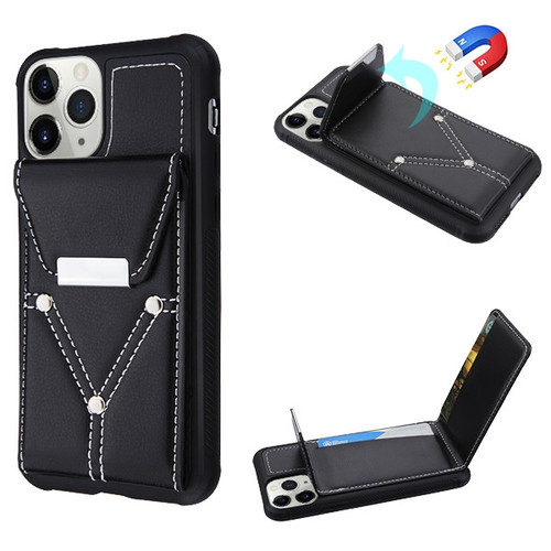 MyBat Buckle Wallet Cover (with Magnetic buckle) for Apple iPhone 11 Pro - Black