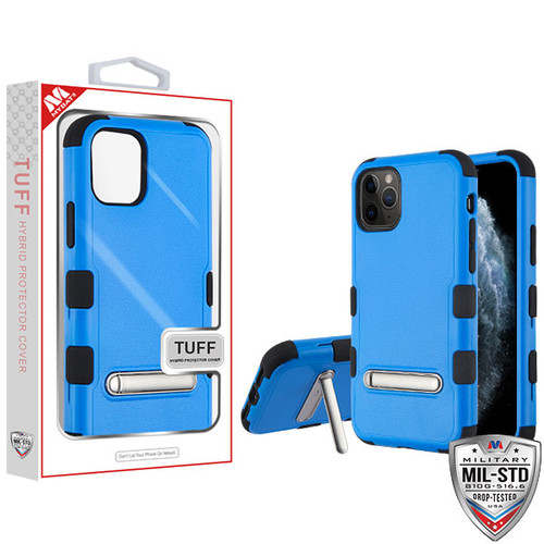 MyBat TUFF Hybrid Protector Cover (with Magnetic Metal Stand)[Military-Grade Certified] for Apple iPhone 11 Pro - Natural Dark Blue / Black