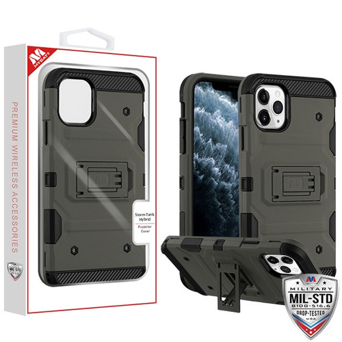 MyBat Storm Tank Hybrid Protector Cover [Military-Grade Certified] for Apple iPhone 11 Pro - Dark Grey / Black