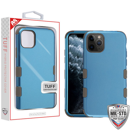 MyBat TUFF Hybrid Protector Cover [Military-Grade Certified] for Apple iPhone 11 Pro - Cobalt / Mocha