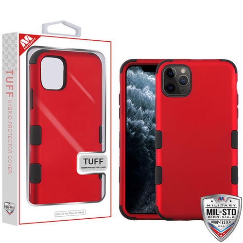 MyBat TUFF Hybrid Protector Cover [Military-Grade Certified] for Apple iPhone 11 Pro - Titanium Red / Black