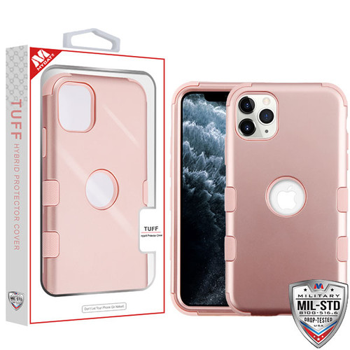 MyBat TUFF Hybrid Protector Cover [Military-Grade Certified] for Apple iPhone 11 Pro - Rose Gold / Rose Gold