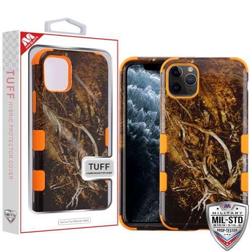 MyBat TUFF Hybrid Protector Cover [Military-Grade Certified] for Apple iPhone 11 Pro - Yellow / Black Vine / Orange