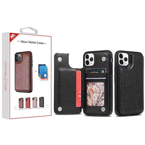 MyBat Stow Wallet Case for Apple iPhone 11 Pro - Black