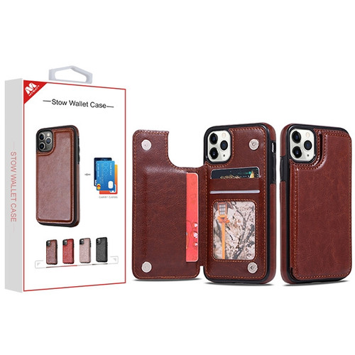 MyBat Stow Wallet Case for Apple iPhone 11 Pro - Brown