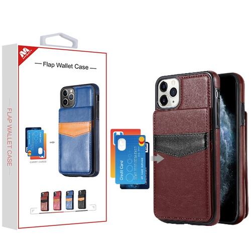 MyBat Flap Wallet Case for Apple iPhone 11 Pro - Brown