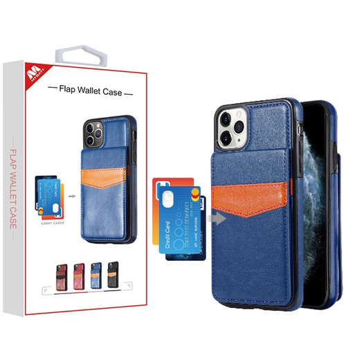 MyBat Flap Wallet Case for Apple iPhone 11 Pro - Blue