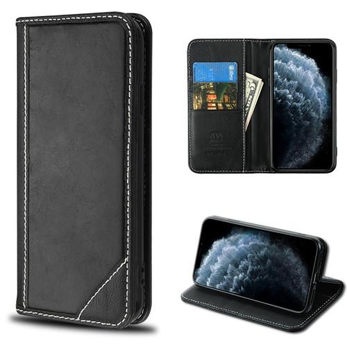 MyBat Genuine Leather MyJacket Wallet for Apple iPhone 11 Pro - Black