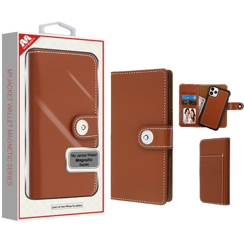 MyBat Detachable Magnetic 2 - in - 1 MyJacket Wallet (TPU Case + Leather Folio) for Apple iPhone 11 Pro Max - Brown