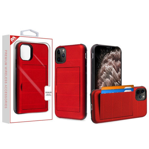 MyBat Poket Hybrid Protector Cover for Apple iPhone 11 Pro Max - Red / Black