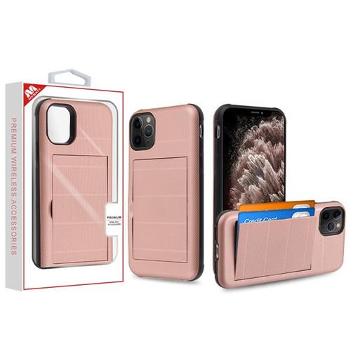 MyBat Poket Hybrid Protector Cover for Apple iPhone 11 Pro Max - Rose Gold / Black