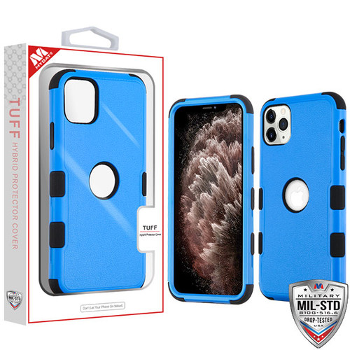 MyBat TUFF Hybrid Protector Cover [Military-Grade Certified] for Apple iPhone 11 Pro Max - Natural Dark Blue / Black