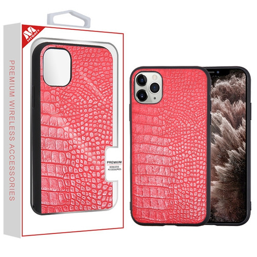 MyBat Crocodile Skin Executive Protector Cover for Apple iPhone 11 Pro Max - Red