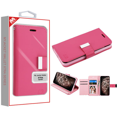 MyBat MyJacket Wallet Xtra Series for Apple iPhone 11 Pro Max - Hot Pink / Pink