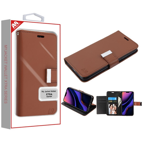 MyBat MyJacket Wallet Xtra Series for Apple iPhone 11 Pro Max - Brown / Black