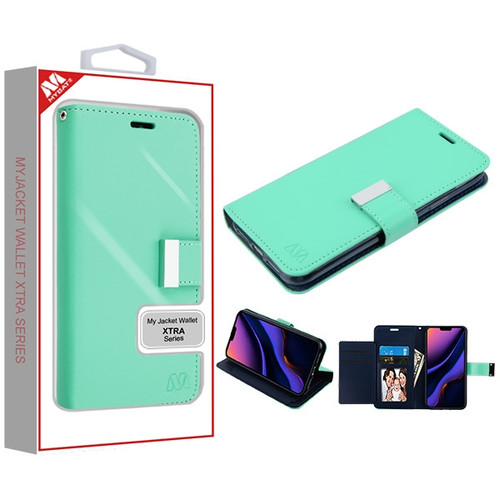 MyBat MyJacket Wallet Xtra Series for Apple iPhone 11 Pro Max - Teal Green / Dark Blue