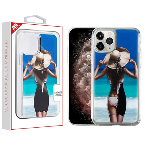 MyBat Quicksand Hybrid Protector Cover for Apple iPhone 11 Pro Max - Summer Girl