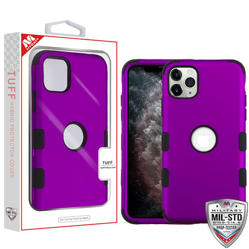 MyBat TUFF Hybrid Protector Cover [Military-Grade Certified] for Apple iPhone 11 Pro Max - Rubberized Grape / Black