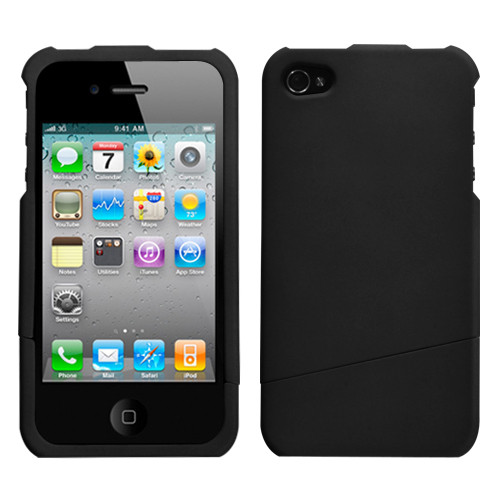 MyBat Slash Protector Cover for Apple iPhone 4s/4 - Rubberized Black