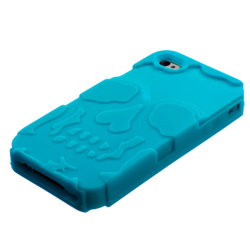 MyBat Skullcap Base Hybrid Protector Cover for Apple iPhone 4s/4 - Tropical Teal