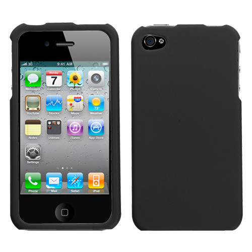 MyBat Protector Cover for Apple iPhone 4s/4 - Rubberized Black