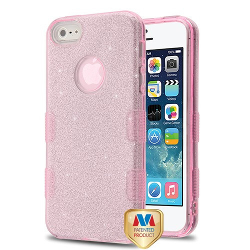 MyBat Full Glitter TUFF Hybrid Protector Cover for Apple iPhone 5s/5 - Pink