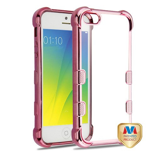 MyBat TUFF Klarity Candy Skin Cover for Apple iPhone 5s/5 - Rose Gold Plating