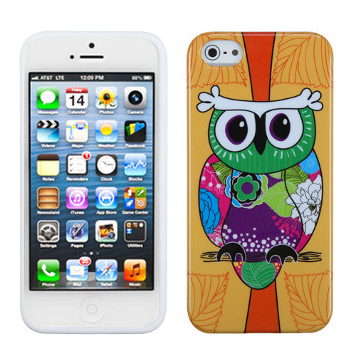 MyBat Candy Skin Cover for Apple iPhone 5s/5 - Tropical Orange Owl