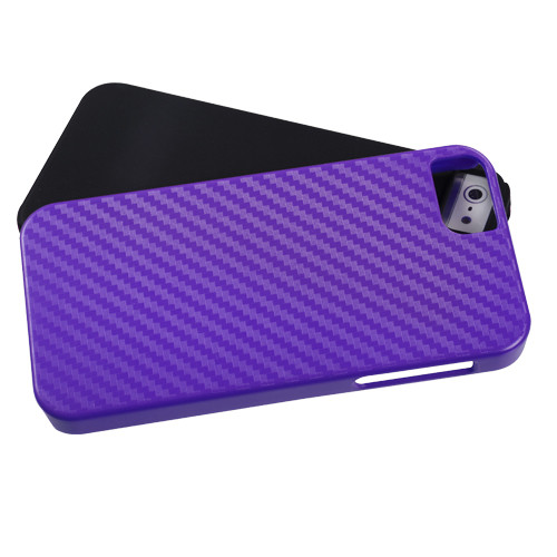 MyBat Fusion Protector Cover for Apple iPhone 5s/5 - Purple Crosshatch / Black