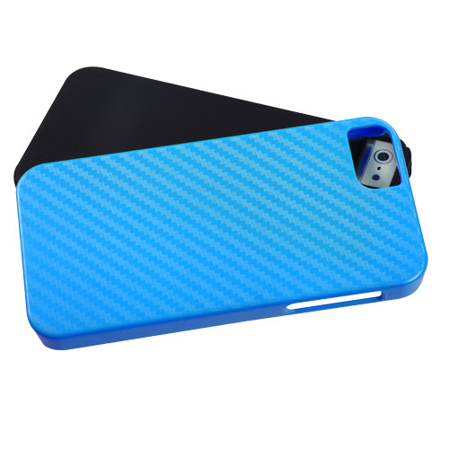 MyBat Fusion Protector Cover for Apple iPhone 5s/5 - Blue Crosshatch / Black