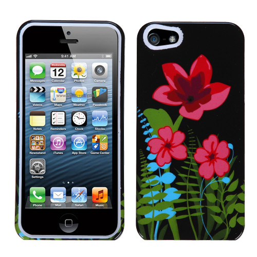 MyBat Protector Cover for Apple iPhone 5s/5 - Garden Night