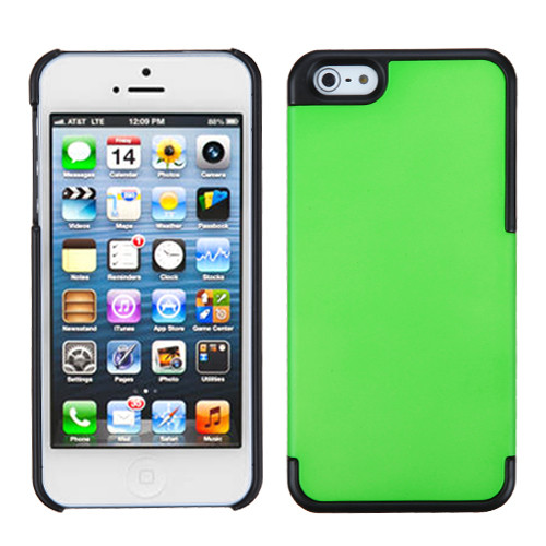MyBat MyDual Back Protector Cover for Apple iPhone 5s/5 - Rubberized Dark Green / Rubberized Black