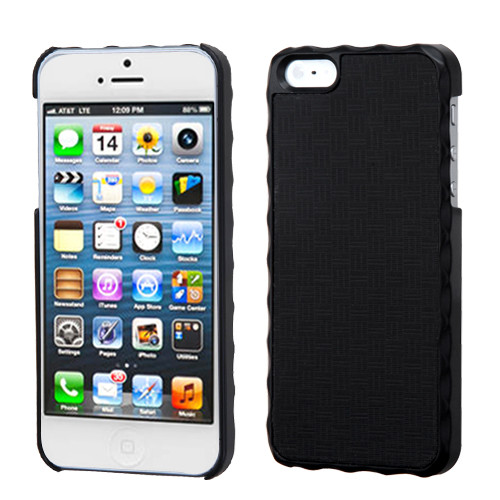 MyBat Executive Back Protector Cover for Apple iPhone 5s/5 - Vertical Plaid Lizzo Black Plaid Alloy
