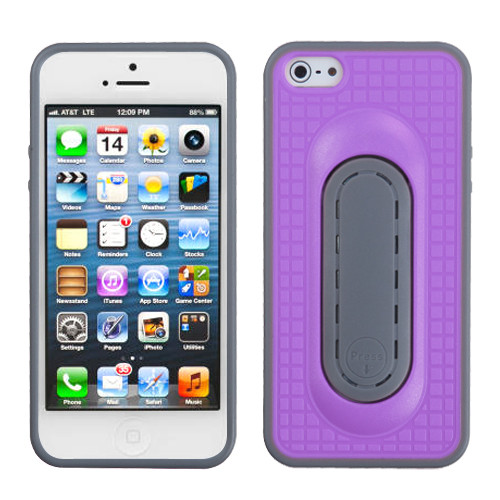 MyBat Snap Tail Stand Protector Cover for Apple iPhone 5s/5 - Purple
